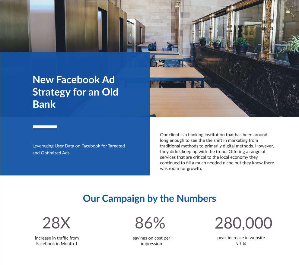 Facebook ads for banks