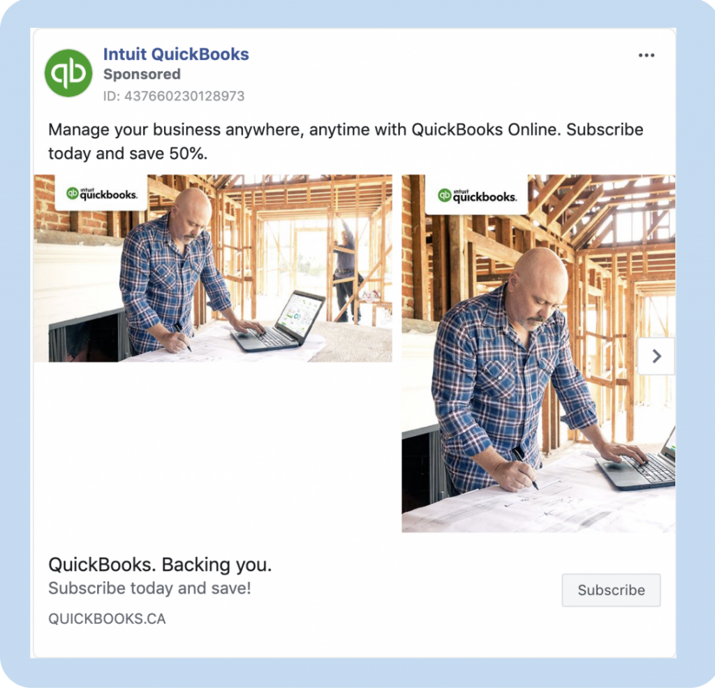 Facebook ads with an image